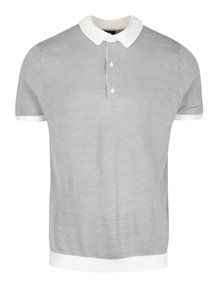 Světle šedé polo tričko Burton Menswear London