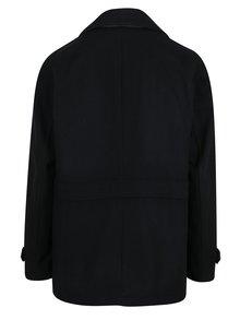 Tmavě modrý kabát s příměsí vlny Burton Menswear London