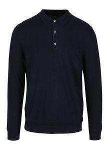 Tmavomodrý sveter s golierom Burton Menswear London