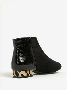 Čierne členkové topánky so vzorovaným podpätkom Dorothy Perkins