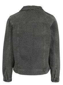 Jacheta gri din denim cu buzunare -  Burton Menswear London