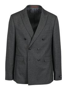Sivé melírované oblekové slim fit sako Burton Menswear London