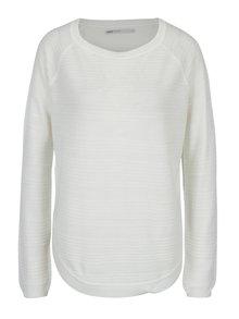 Bílý lehký svetr s rozparkem na boku ONLY Caviar