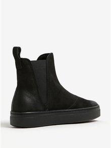 Černé dámské chelsea boty z broušené kůže na platformě Vagabond Camille