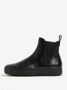 Čierne dámske kožené chelsea topánky na platforme Vagabond Camille