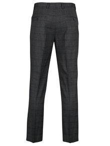 Sivé kockované oblekové skinny nohavice Burton Menswear London