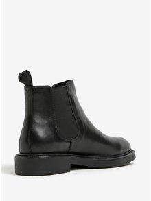 Čierne dámske kožené chelsea topánky Vagabond Alex