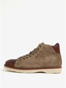 Hnědé pánské semišové kotníkové boty GANT Huck