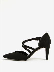 Pantofi negri cu toc, bretele si varf ascutit - Tamaris