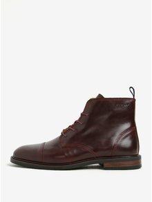 Vínové pánské kožené kotníkové boty GANT Ricardo