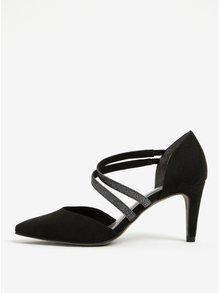 Pantofi negri cu varf ascutit si toc mediu - Tamaris