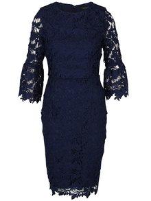 Tmavomodré puzdrové čipkové šaty Dorothy Perkins