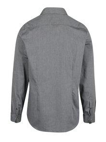 Sivá vzorovaná formálna slim fit košeľa Burton Menswear London