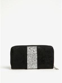 Čierna peňaženka s trblietavým detailom Haily's Lina