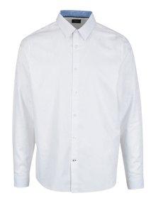 Bílá vzorovaná formální košile Burton Menswear London