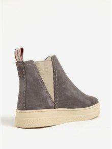 Sivé dámske zateplené semišové chelsea topánky GANT Maria