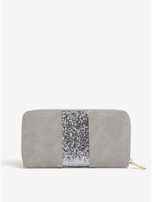 Sivá peňaženka s trblietavým detailom Haily's Lina