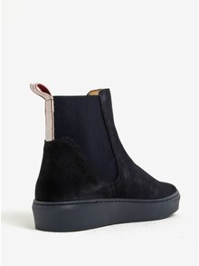 Tmavomodré dámske semišové chelsea topánky GANT Anne