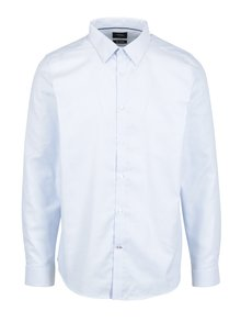 Modrá pruhovaná formální slim fit košile Burton Menswear London