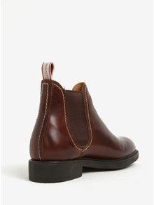 Hnedé dámske kožené chelsea topánky GANT Lydia