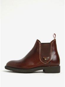 Hnědé dámské kožené chelsea boty GANT Lydia