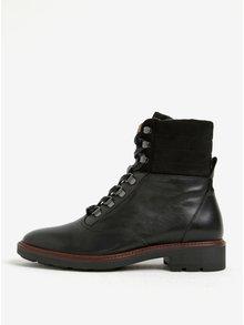 Čierne dámske kožené členkové topánky GANT Emillia