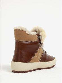 Hnědé dámské kožené zateplené kotníkové boty GANT Amy