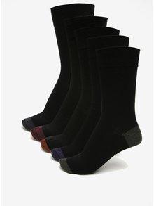 Súprava piatich ponožiek v čiernej farbe Burton Menswear London