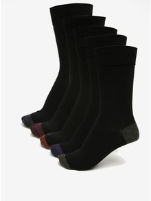 Sada pěti ponožek v černé barvě Burton Menswear London