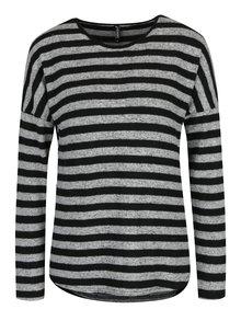 Čierno-sivý pruhovaný sveter Haily's Elisa