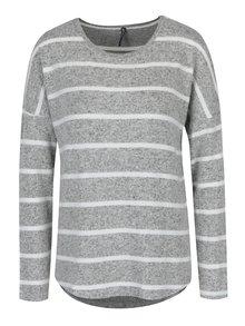 Krémovo-šedý pruhovaný svetr Haily´s Elisa