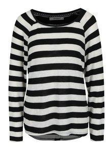 Černo-krémový pruhovaný lehký svetr Haily´s Tamara