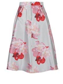 Krémová květovaná sukně Dorothy Perkins