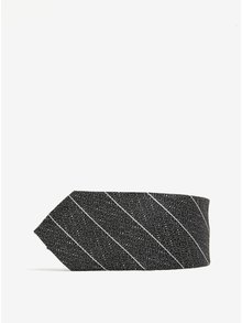 Sivá vzorovaná kravata Burton Menswear London