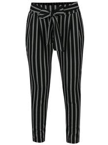 Bílo-černé pruhované zkrácené kalhoty Haily´s Emilia