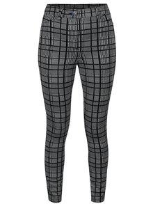Černo-bílé kostkované kalhoty Dorothy Perkins