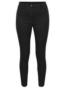 Pantaloni negri cu print Dorothy Perkins