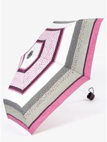 Šedo-fialový dámský vzorovaný skládací deštník Esprit