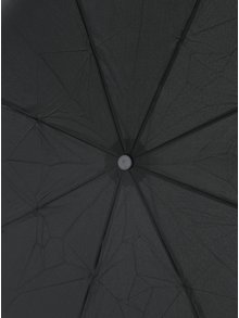Čierny skladací vystreľovací dáždnik Esprit