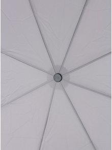 Světle šedý dámský skládací vystřelovací deštník Esprit