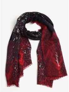 Fialovo-vínový vzorovaný šátek Desigual Ka