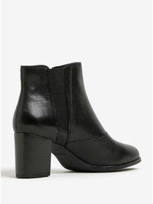 Černé dámské kožené chelsea boty Vagabond Lottie