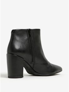 Čierne dámske kožené členkové topánky Vagabond Saida