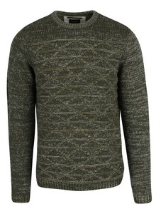 Pulover verde&alb cu model geometric  ONLY & SONS Tominic