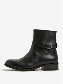 Čierne dámske kožené členkové topánky s prackou Vagabond Cary