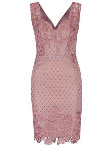 Ružové čipkované šaty Miss Grey Ophelia