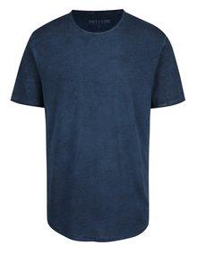 Modré melírované tričko s krátkym rukávom ONLY & SONS Murphy