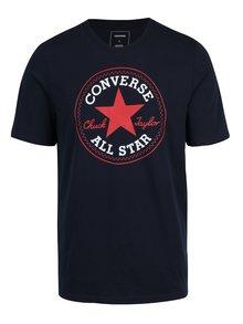 Tricou albastru inchis cu print logo Converse Core