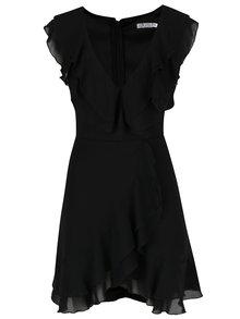 Čierne šaty s volánmi Miss Grey Briana