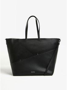 Černý velký shopper s odnímatelným popruhem Calvin Klein Jeans Luna